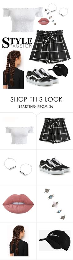 """""""TUMBLR OUTFIT"""" by greta1101 ❤ liked on Polyvore featuring Vans, Lime Crime, Forever 21, LullaBellz and NIKE"""