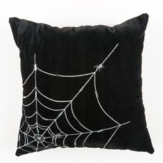 Itsy Bitsy Spider Pillow - Spider Web Halloween Pillow by Kensington Row Collection