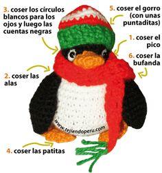 pingüino en crochet - amigurumi penguin