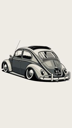 41 Ideas for cars sports drawing Vw Bugs, Audi Autos, Carros Vw, Kdf Wagen, Car Illustration, Vw T1, Volkswagen Polo, Car Drawings, Automotive Art