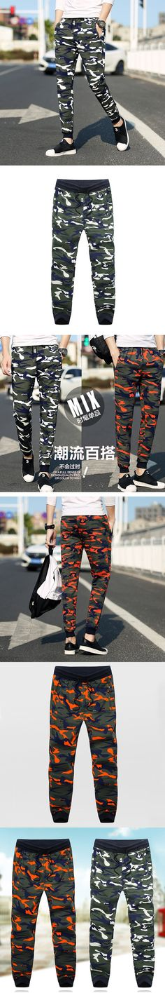 Plus size l-8xl(hip 136cm )Spring and Autumn Camouflage Pants Men's Casual pantalettes Young Loose Big yards trousers