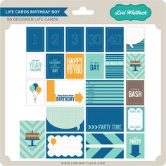 55 Life Cards to celebrate your special someone's birthday.