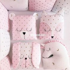 Fabrics and wool for toys, Tild dolls, etc. Quilt Baby, Baby Pillows, Kids Pillows, Baby Bedroom, Baby Room Decor, Baby Cot Bumper, Girl Cribs, Baby Sewing Projects, Fabric Toys