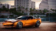 Sunset Orange C6 Corvette