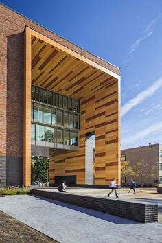 Westfield State New University Hall / ADD Inc.  Potential idea for treatment of lobby level entrance