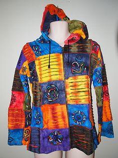 22845b68c905 Rising International Nepal hoodie jacket razor patchwork S