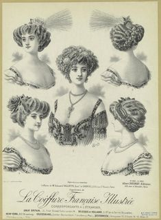 ❤ - La coiffure française illustrée. (1910)