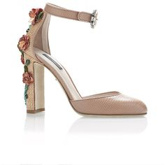 Dolce & Gabbana Rosa Printed Iguana and Raffia Floral Decal Heels (2.117.680 COP) ❤ liked on Polyvore featuring shoes, heels, floral print shoes, raffia shoes, rose shoes, floral printed shoes and dolce gabbana shoes