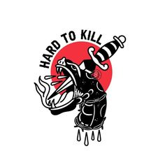'HARD TO KILL' Design is SOLD. For more pre-made designs go to link in bio. Graphic Design Tattoos, Owl Tattoo Design, Tattoo Graphic, Graphic Design Posters, Logo Design, Illustration Vector, Ink Illustrations, Traditional Tattoo Wallpaper, Black Ink Tattoos
