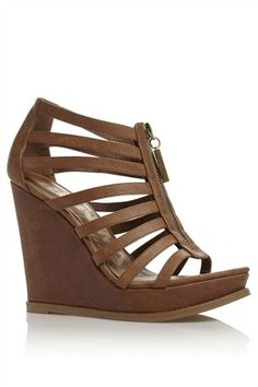 Tan Gladiator Wedges