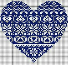 Cross Stitch Design Cross Stitch Heart Pattern (Free Embroidery Pattern) - This gorgeous cross-stitch pattern would look lovely no matter where you place it, on a pillow in multiples, a tea towel or on a pocket. Embroidery Hearts, Embroidery Patterns Free, Counted Cross Stitch Patterns, Cross Stitch Designs, Cross Stitch Embroidery, Embroidery Designs, Embroidery Thread, Christmas Cross Stitch Patterns, Free Cross Stitch Charts