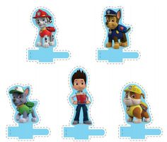 Paw Patrol: Marionetas para Dedos para Imprimir Gratis.