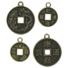 Brass coin charms
