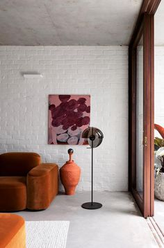 A modern family home in Balmain with water views | Belle Modern Family, Mid-century Modern, Home And Family, Contemporary, Reeded Glass, Pink Curtains, Kitchen Benches, Dinosaur Design, Window Frames