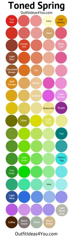 Toned Spring Color Palette (Soft Spring)