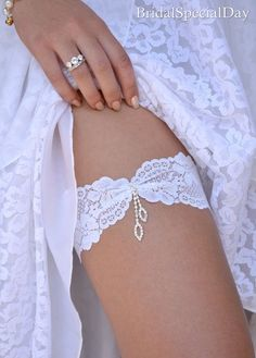 Wedding Clothing Wedding Garter Set Lace by BridalSpecialDay