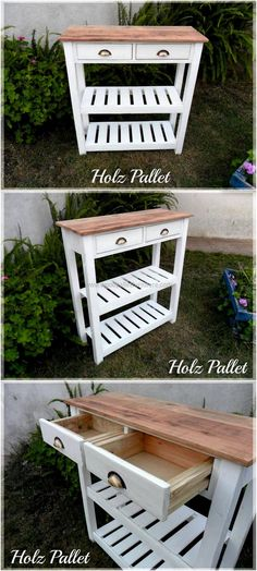 wood pallets entryway table