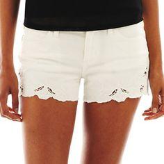Bisou Bisou® Eyelet Embroidered Shorts - jcpenney