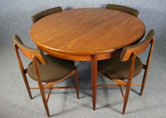 G Plan dining table & Chairs (the chairs would look great recovered) Retro Dining Rooms, Retro Dining Table, Dining Room Table Chairs, Extendable Dining Table, Dining Room Design, Dining Room Furniture, Dining Sets, G Plan Furniture, Retro Furniture