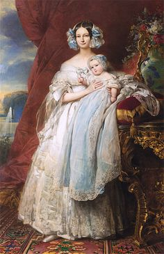 Helene Louise Elizabeth de Mecklenburg Schwerin, Duchess of Orléans, and Her Son, the Count of Paris by Franz Xaver Winterhalter, 1839