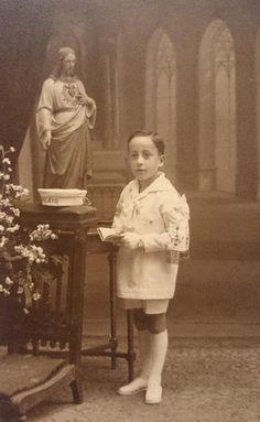 Niño de Primera Comunión. Estudio Fernando Alonso (Barcelona) - Principios siglo XX.