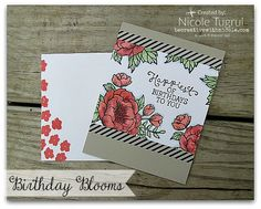 by Nicole: Birthday Blooms, Everyday Chic Washi Tape - all from Stampin' Up!
