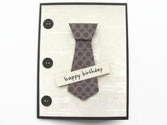 Happy Birthday Card For Him Mens Birthday by SassyScrapsCrafts