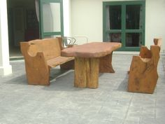 Outdoor Table Settings, Outdoor Tables And Chairs, Table And Chair Sets, Outdoor Furniture Sets, Wooden Outdoor Table, Wooden Tables, Outdoor Decor, Design Your Own, Home Decor