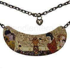 Gargantilla babero Kokeshis Klimt