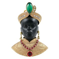 Guilio Nardi, founder of the renowned Venetian jewelry house of the same name, first started to design blackamoors in the early 1920s.
