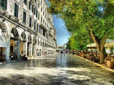 Liston square in Corfu island...