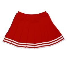 U11EH5 In Stock Elastic Waist Knife Pleat Skirt 23$ SHORT pleated skirt red with white adult sizes