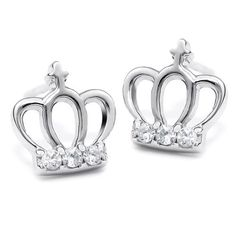 BESTSELLER! Neoglory Jewelry England Stlye Stud Earrings 925 Silver Sterling Cute United Kingdom Crown Jewelry for Teen Girls $8.01