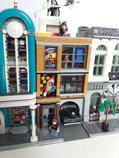 Lego modular arcade and space museum   by eddiemck123