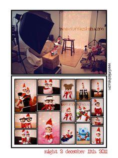 Elf on a shelf photo studio takeover-- www.funfreshyou.com