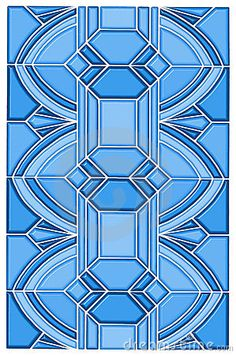 A colorful art deco design made to look like a vintage stain glass window