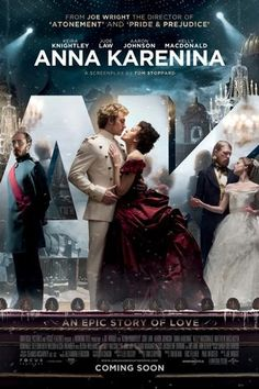 Anna Karenina, which I want to see! Out Nov. 16th