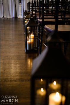 Suzanna March Photography #AldenCastle #ModernVintage #Wedding #Ceremony #Lanterns