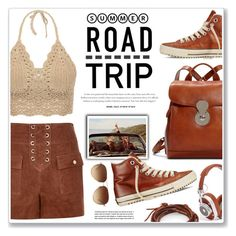 """""""summer trip"""" by nanawidia ❤ liked on Polyvore featuring River Island, Converse, Master & Dynamic, Coach, Chan Luu, roadtrip, contestentry, polyvoreeditorial and polyvorecontest"""