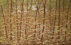 Woodblock Print Limited Edition Landscape  APRIL I by starkeyart