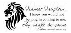 Inspirational Quotes From Aslan Narnia. QuotesGram
