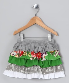 Take a look at this Emerald Rose Ruffle Skirt - Toddler & Girls by Baby Nay on #zulily today!