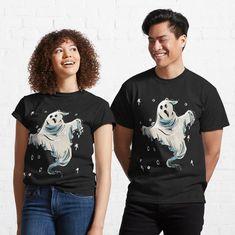 Halloween ghost by blouzi | Redbubble Love Shirt, My T Shirt, Halloween Ghosts, Take My, Female Models, Heather Grey, Classic T Shirts, Shirt Designs, T Shirts For Women