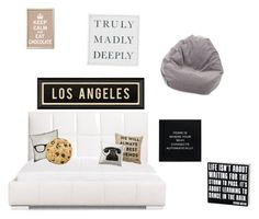 """""""Someone's bedroom"""" by wannabeyoutuber ❤ liked on Polyvore featuring interior, interiors, interior design, home, home decor, interior decorating, Zuo, jcp, Dot & Bo and Pottery Barn"""
