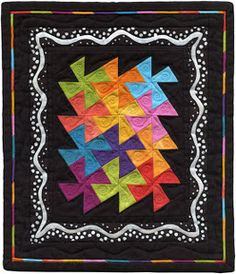 """This little quilt raised $805 for the Alzheimer's Art Quilt Initiative!  It is 8.75"""" by 10"""".  It is just darling!"""