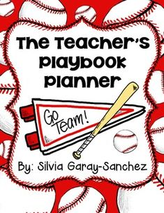 ***Updated- This file is now a zip file with an editable Power Point (can only edit text and not graphics or design) and a PDF.  Do you have a baseball or sports theme going on in your classroom?  Or do you simply love baseball?  Then this teacher planner is for you!This file contains a lesson planner (2 page spread), a grade book (12 pages), a calendar (M-F), plus some extras all in Baseball Theme.