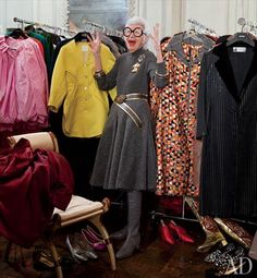"""A self described, """"geriatric starlet' at age 89 Iris Apfel is having her moment in the fashion spotlight. After her wardrobe was featured at the Met, Iris and her style became the muse de jour for fashionistas everywhere! Iris worked for years as an interior designer, as well as owning one of the most …"""