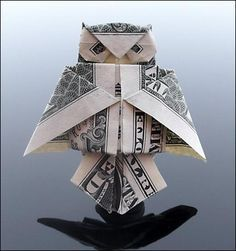 Dollar Origami - Owl... I'm going to do this to every bill I get