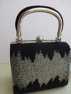Vintage Black and Silver Evening Treasures Beaded by papertales, $24.95