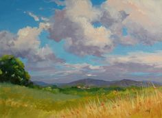 Two Landscapes, and Acrylics Lesson Available, painting by artist Nel Jansen